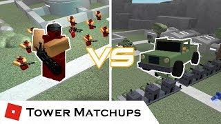 Patrol vs Commando | Tower Matchups | Tower Battles [ROBLOX]