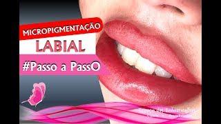 Como Fazer Micropigmentação nos Lábios #Aprenda #PassoaPasso thumbnail