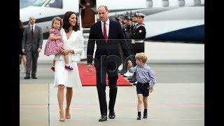 Kate Middleton, Prince William, George & Charlotte Poland visit
