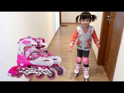 Bé Tập Đi Patin – Bé Lần Đầu Tập Trượt Patin ❤ AnAn ToysReview TV ❤
