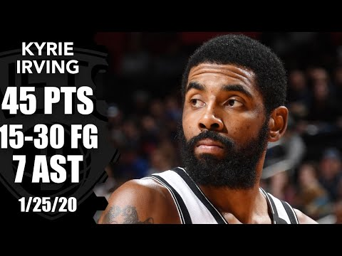 Kyrie Irving goes off for 45 points for Nets vs. Pistons | 2019-20 NBA Highlights