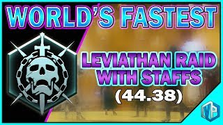 """Destiny 2 - Leviathan Raid """"SPEED RUN"""" without Underbelly WORLD RECORD (44.38)"""