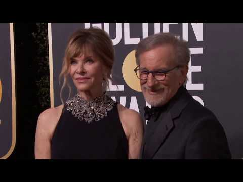 Steven Speilberg & Kate Capshaw Golden Globe Awards Fashion Arrivals 2018