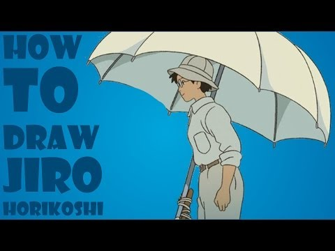HOW TO DRAW JIRO HORIKOSHI FROM WHEN THE WIND RISES EASY STEP BY STEP TUTORIAL CÓMO DIBUJAR COMMENT