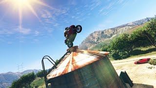 INSANE BIKE STUNTS! - (GTA 5 Top 10 Stunts)