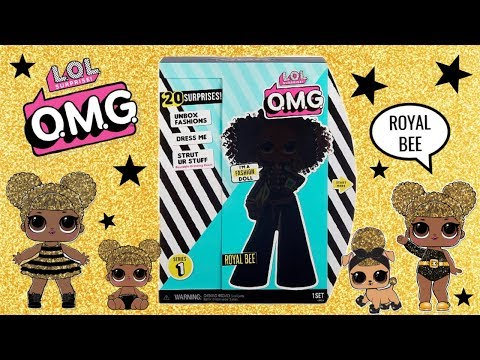 LOL SURPRISE OMG Fashion Dolls Royal Bee Unboxing Opening Queen Bee
