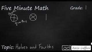 1st Grade Math Halves and Fourths