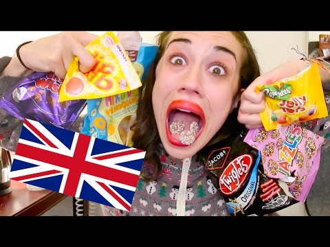 AMERICAN EATS BRITISH TREATS AND SWEETS