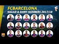 FC Barcelona Squad For 2017/18 Season & Shirt Numbers