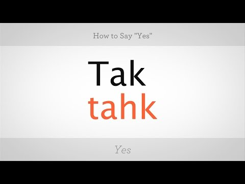 "How to Say ""Yes"" in Polish 