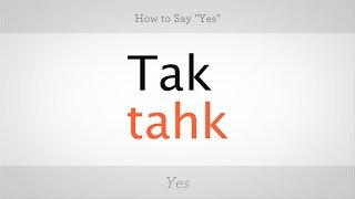 """How to Say """"Yes"""" in Polish   Polish Lessons"""