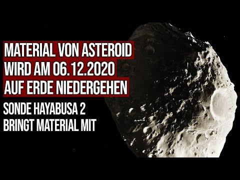 Material von Asteroid wird am 06.12.2020 auf Erde niedergehen - Sonde Hayabusa 2 bringt Material mit