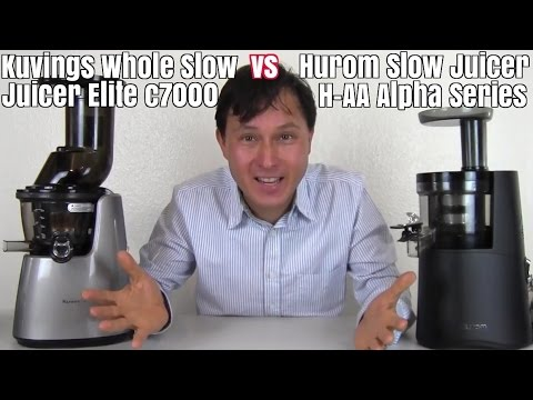 Kuvings Whole Slow Juicer Elite c7000 vs Hurom H-AA Slow Juicer - - YouTube