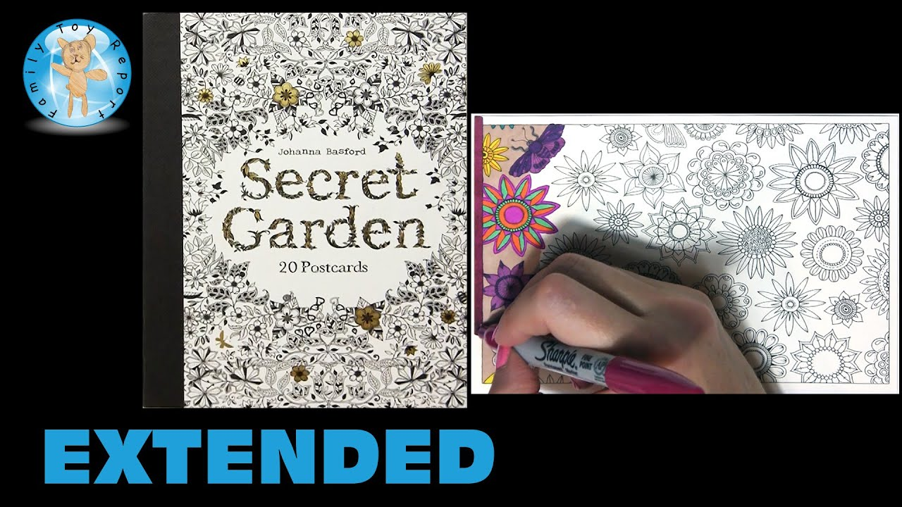 Secret Garden By Johanna Basford Adult Coloring Book Postcards Floral Extended