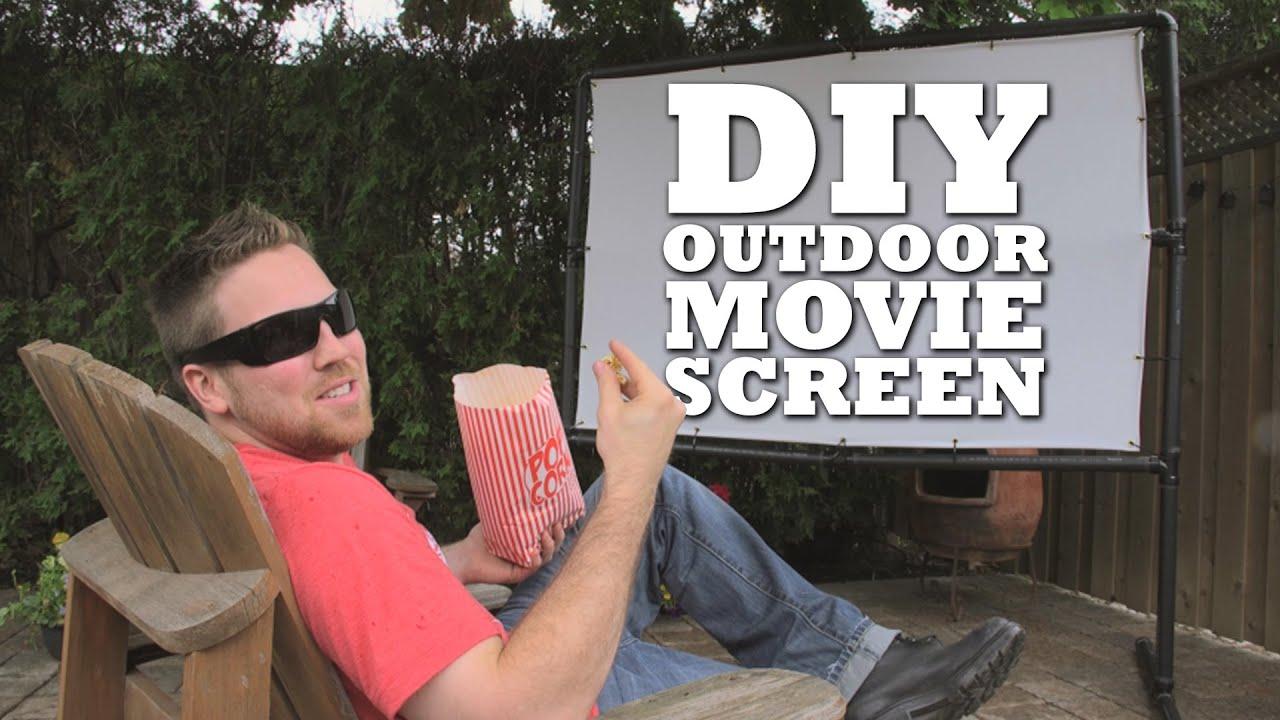 diy outdoor movie screen youtube