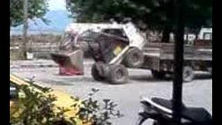 Crazy Bobcat Driver Loads In To Truck!!!!