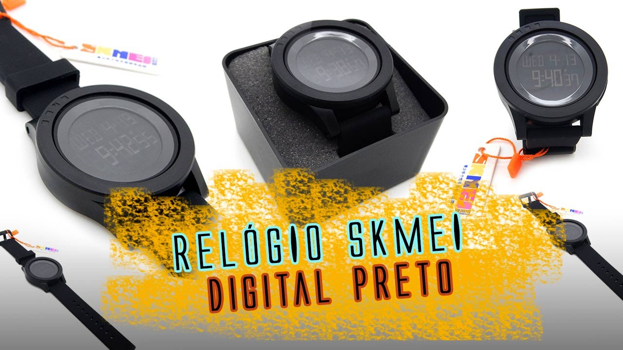 ad4b30100a1 Relógio Pulso Sport Skmei Digital Preto - Review - YouTube