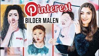 Portrait Realistisch Zeichnen & Malen - 3 Pinterest Bilder DIY's // I'mJette