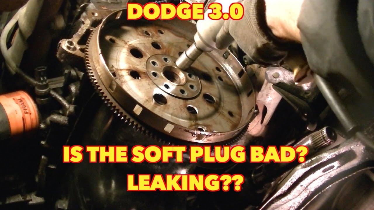 medium resolution of 3 0 dodge flywheel removal and hidden soft plug leak quick view dodge caravan