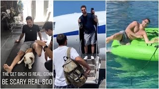 Klay Thompson's knee looking good as he vacations at Lake Tahoe with his buddies
