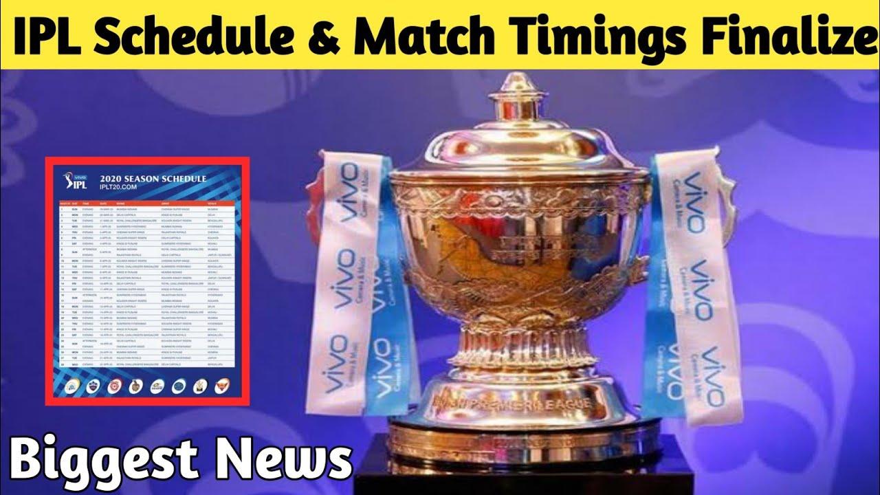 Biggest IPL News: IPL 2020 New Timings & Schedule Finalised.. Indian Govt Clears IPL