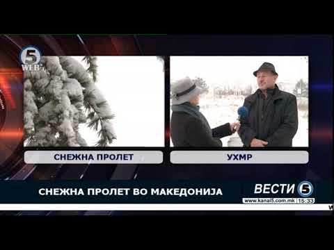 Снежна пролет во Македонија