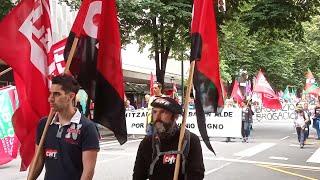 Manifestación de trabajadores del Metal en Bilbao