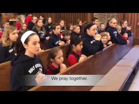 Holy Apostles School Loves God,  Loves Others.