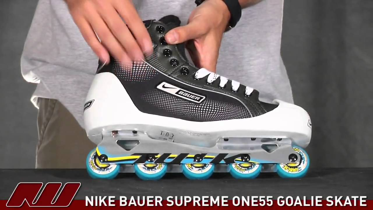 Nike Bauer Supreme One 55 Goalie Skate Youtube