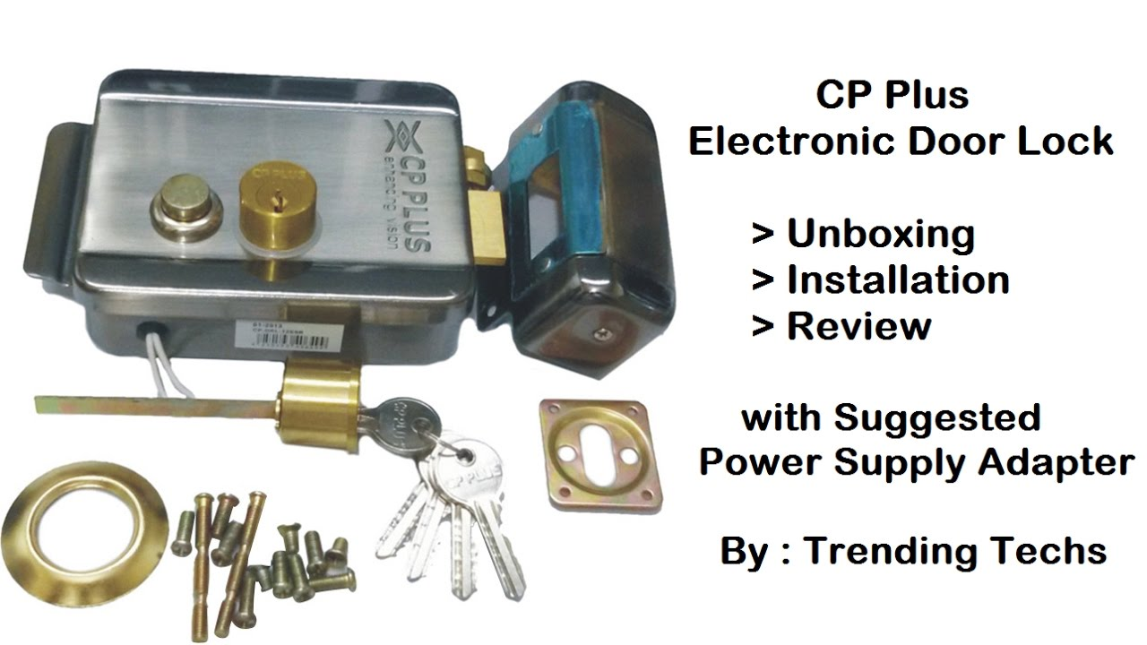 Cp Plus Electronic Door Lock Unbox Install Amp Review Youtube