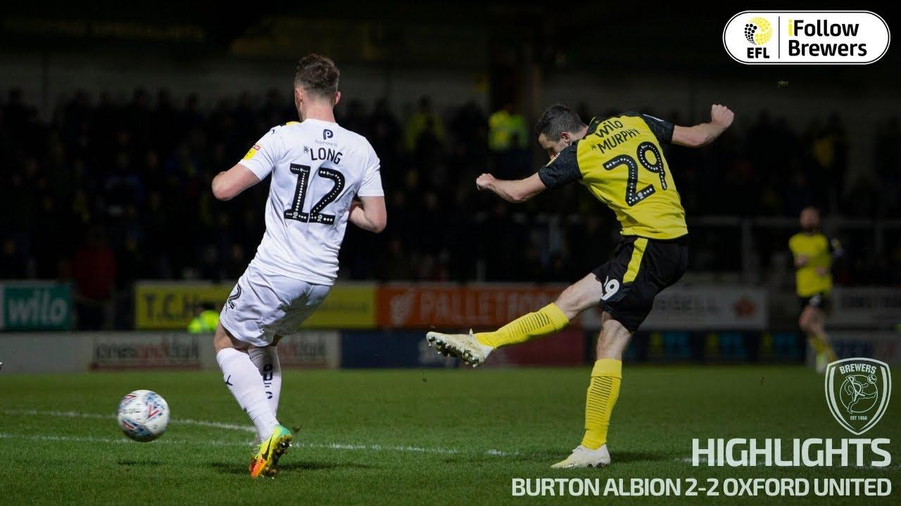 Бертон Альбион  2-2  Оксфорд Юнайтед видео