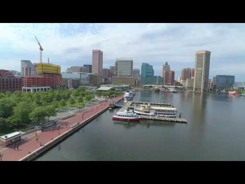Beauty In Baltimore: Inner Harbor - Fed Hill (Drone Video)