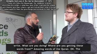 British Film Producer Converts to Islam | YOU Will Cry! - 'LIVE' Street Dawah