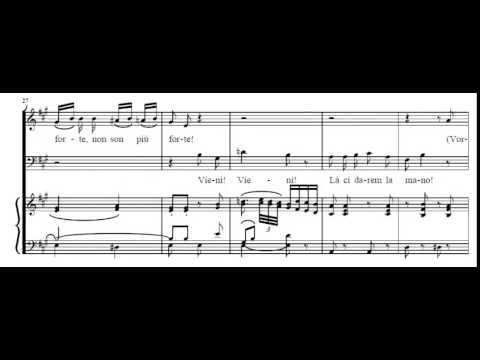 La Ci Darem La Mano (Don Giovanni - Mozart) Score Animation