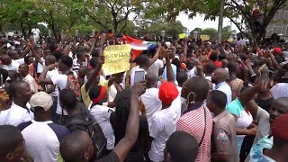 Thousands Protest In Liberia