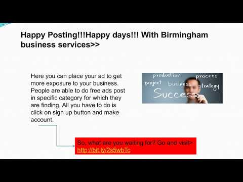 Post Free Classified Ads For Business Services In Birmingham (Alabama)