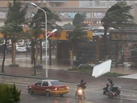 Typhoon Utor Stock Footage Screener, China  1920x1080 30p