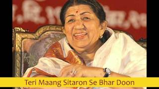 Video EXCLUSIVE - Teri Maang Sitaron Se Bhar Doon - Lata Mangeshkar best early 80's songs download MP3, 3GP, MP4, WEBM, AVI, FLV November 2017