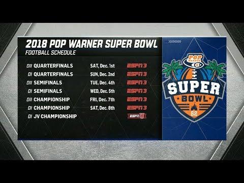 2018 Pop Warner Super Bowl Bracket Release Show