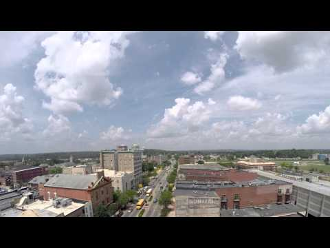Skyline of Hamilton Ohio (4K Time lapse)