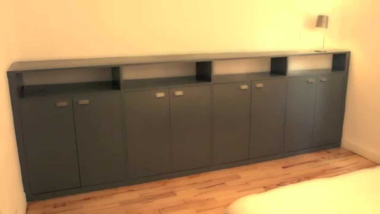meuble sur mesure dessin sketchup et pose youtube. Black Bedroom Furniture Sets. Home Design Ideas