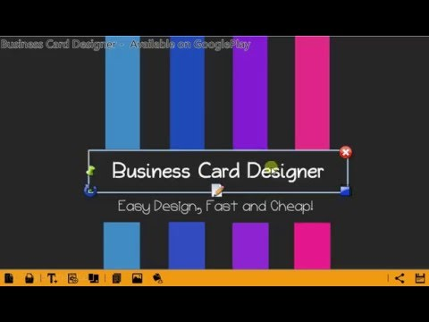 business card designer for android free app youtube