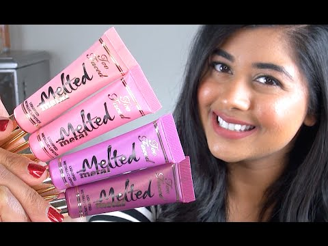 NEW Too Faced Melted METAL: Review & Lip Swatches!