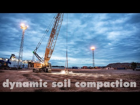 Liebherr – Dynamic soil compaction with a duty cycle crawler crane HS 8130 HD