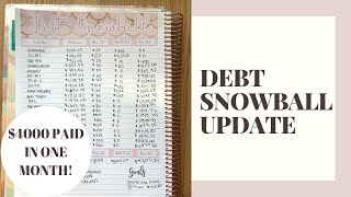 DEBT SNOWBALL UPDATE | $4,000 PAID OFF IN ONE MONTH! | $9,000 TOTAL PAID IN 3 MONTHS!