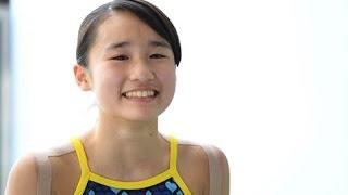 13歳・金戸凛の流儀―― 水泳・飛び込み競技の新星が語る「ポジティブ思考法」と「東京五輪」