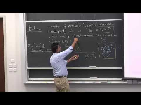 Modern Physics (2018) - Lecture 50 - Entropy Maximization