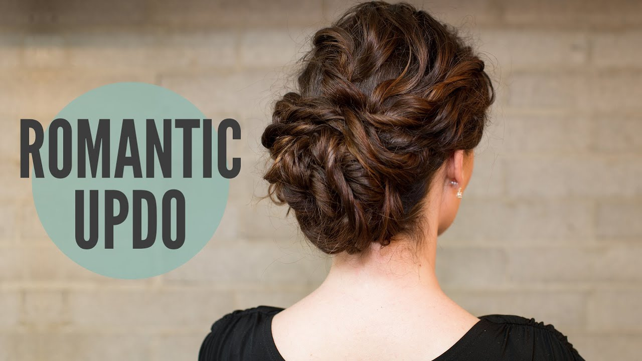 How To Curly Romantic Updo Youtube