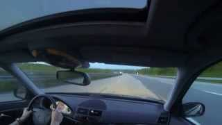 mercedes e320 cdi w211 driving to girlfriend pushing on autobahn