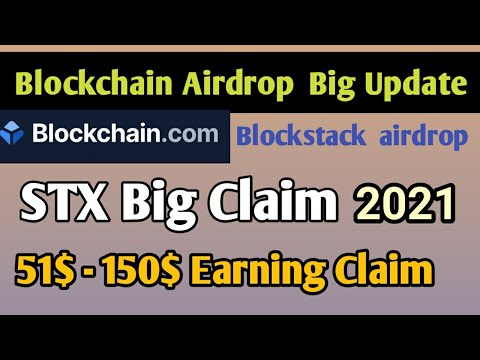 Blockchain Airdrop Big Earning | Stx Crypto currency Claim 2021|blockchain exchange Cryptocurrency